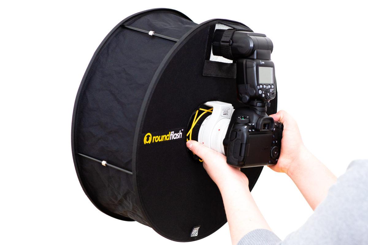 RoundFlash Ring Faltbare Ringblitz-Diffusor Softbox für entfesselte Aufsteckblitze mieten ab 1,76 € am Tag.
